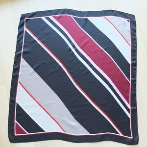 Club Monaco Large Silk Scarf Diagonal Stripe